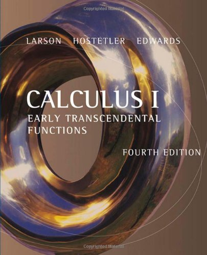 9780618606269: Calculus I: Early Transcendental Functions