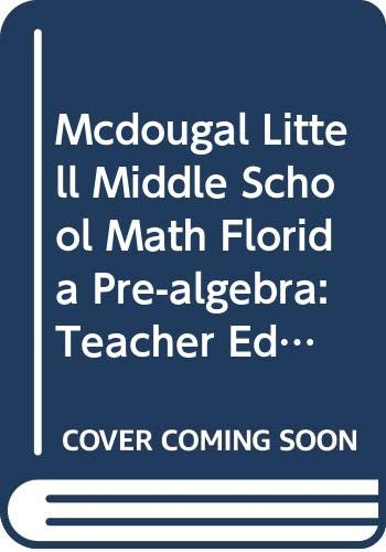 9780618610792: McDougal Littell Middle School Math Illinois: Teachers Edition Pre-Algebra 2005