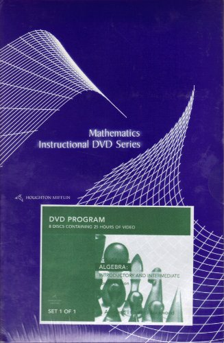 9780618611409: Instructional Dvds: By Dana Mosely: Used with ...Aufmann-Algebra: Introductory and Intermediate; Aufmann-Algebra: Introductory and Intermediate