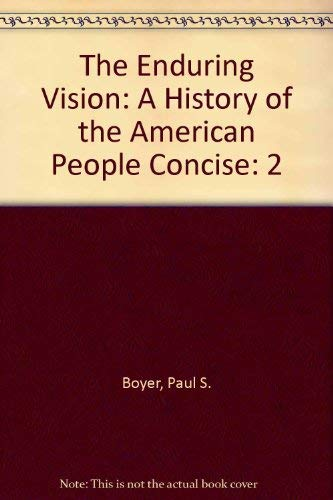 9780618612789: Enduring Vision V2 Concise With Student Research Companion 5th Edition