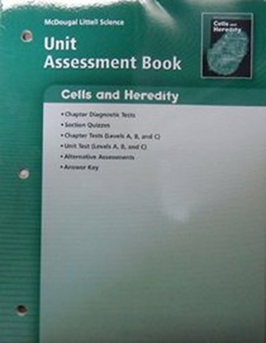 9780618615261: Science Cells & Heredity Unit Assessment Book Grades 6-8