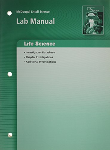 9780618615360: McDougal Littell Science: Lab Manual Grade 7 Life Science (Middle School Science)