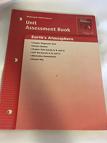 9780618615506: McDougal Littell Science: Earth Science: Unit Assessment Book Earth?s Atmosphere