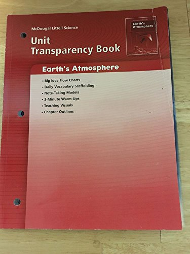 9780618615551: McDougal Littell Science: Earth Science: Unit Transparency Book Earth?s Atmosphere