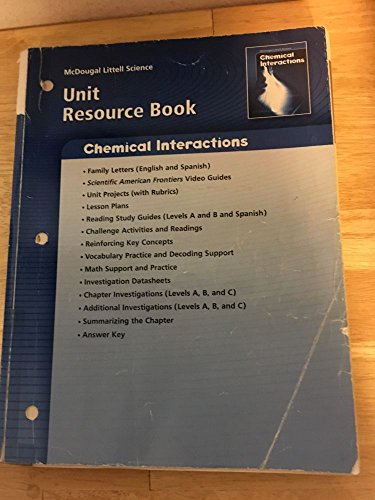 9780618615629: McDougal Littell Science: Physical Science: Unit Resource Book Chemical Interactions