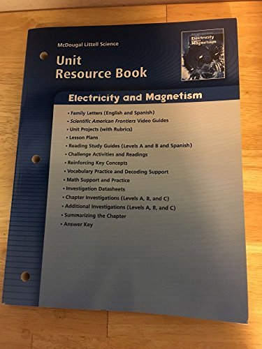 9780618615650: McDougal Littell Science: Physical Science: Unit Resource Book Electricity and Magnetism