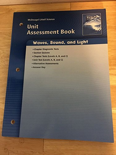 9780618615698: McDougal Littell Science: Physical Science: Unit Assessment Book Waves, Sound, and Light