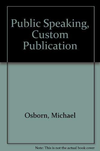 9780618618026: Public Speaking, Custom Publication