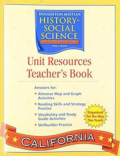 9780618618248: Houghton Mifflin Social Studies California: Unit Res & Prc Bk Tae L5