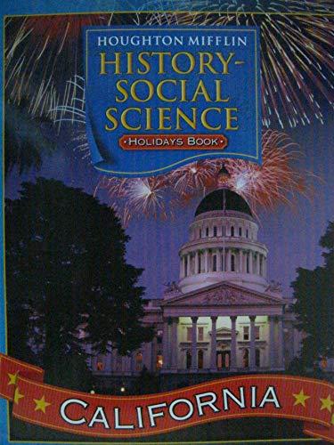 9780618618712: Houghton Mifflin Social Studies California: The Holidays Big Book Lk