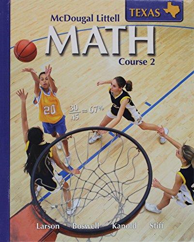 9780618638284: McDougal Littell MATH COURSE 2 ,Texas, Student Edition