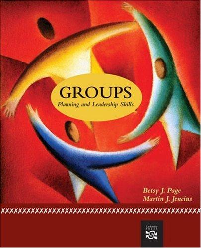 9780618639434: Groups: Planning And Leadership Skills