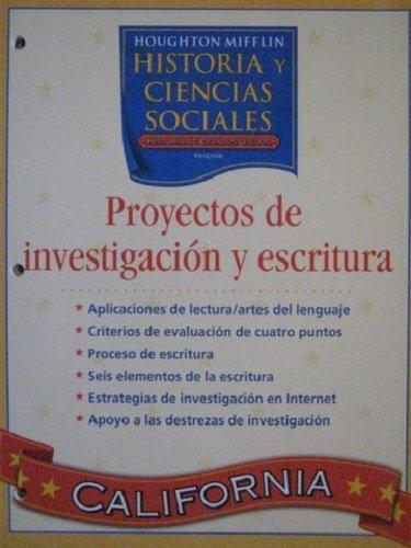9780618640447: Houghton Mifflin Social Studies Spanish: Resrch & Writ Proj L5 (Spanish Edition)