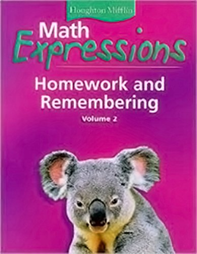 9780618641109: Math Expressions: Homework and Remembering, Grade 1, Vol. 2