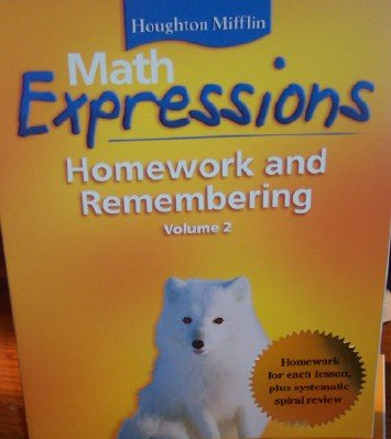 9780618641192: Math Expressions: Homework and Remembering Grade 4 (Volume 2)