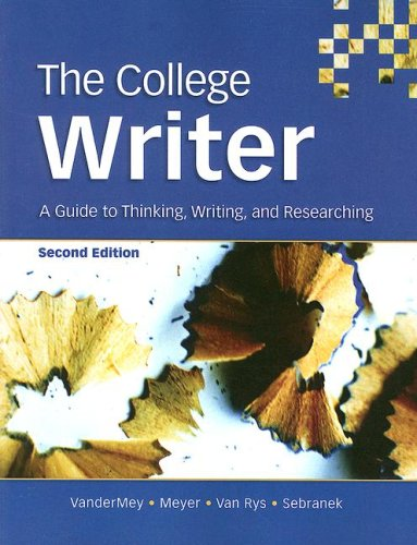 9780618642052: The College Writer: A Guide to Thinking, Writing, and Researching