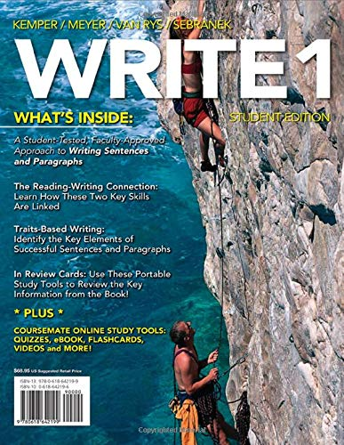 WRITE 1 (with Basic Writing CourseMate Printed: Dave Kemper, Verne