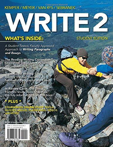 9780618642861: WRITE2 (with CourseMate Printed Access Card) (Basic Writing)