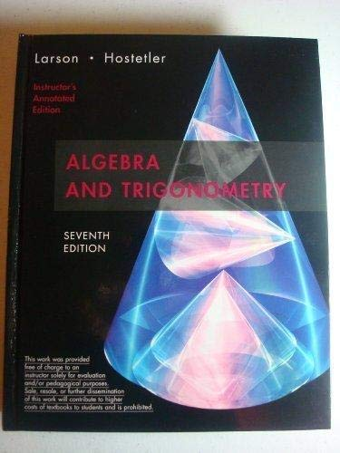 9780618643226: Algebra and Trigonometry: Instructor's Annotated Edition