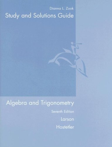 9780618643233: Study and Solutions Guide for Algebra and Trigonometry