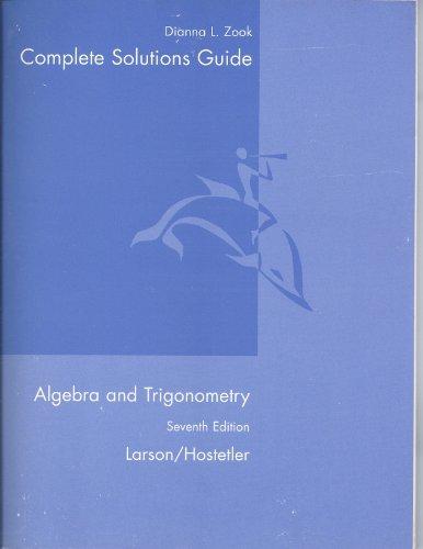 9780618643264: Algebra and Trigonometry Complete Solutions Guide