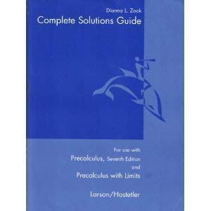 9780618643509: Complete Solutions Guide: For use with Precalculus, 7th Edition and Precalculus with Limits