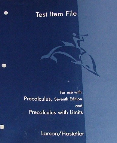 9780618643516: Test Item File for use with Precalculus and Precalculus with Limits, 7th