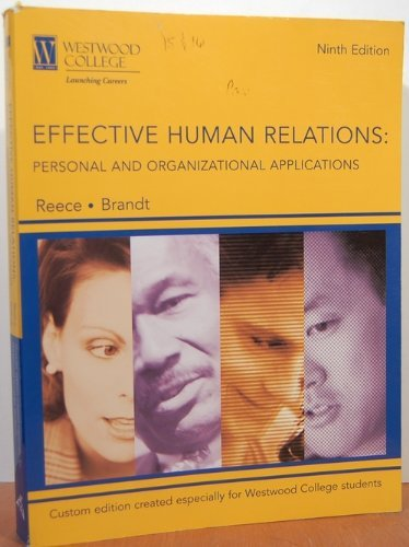 9780618644636: Effective Human Relations: Personal And Organizational Applications