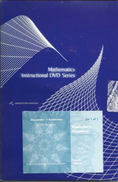 9780618645336: Tutorial Dvds: By Dana Mosely: Used with ...Alexander-Elementary Geometry for College Students