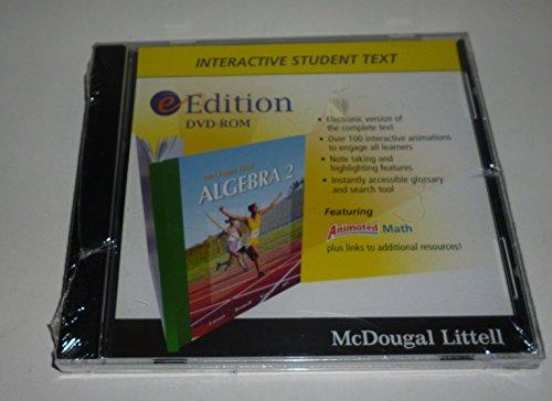 Algebra 2 eEdition DVD-ROM: McDougal Littell