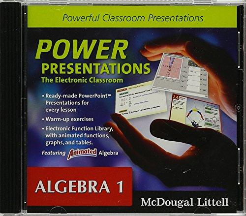 9780618656035: Holt McDougal Larson Algebra 1: Power Presentations: The Electronic Classroom CD-ROM