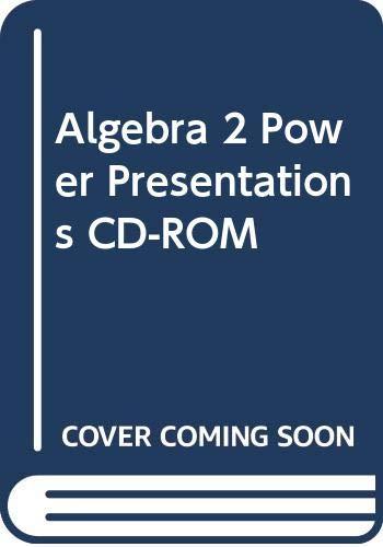 9780618656066: Holt McDougal Larson Algebra 2: Power Presentations CD-ROM