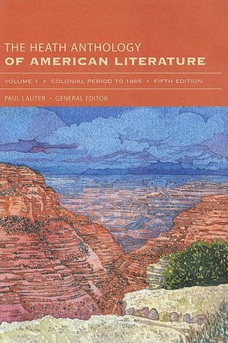 9780618656332: The Heath Anthology of American Literature, Volume 1: Colonial Period to 1865