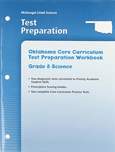 9780618656417: McDougal Littell Science Oklahoma: Test Preparation Grade 8 Integrated Course 1,2,3