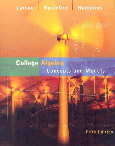 9780618658787: College Algebra Concepts Models, Custom Publication