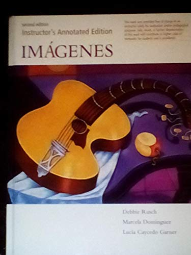9780618660414: Imagenes (Instructor's Annotated Edition) 2E