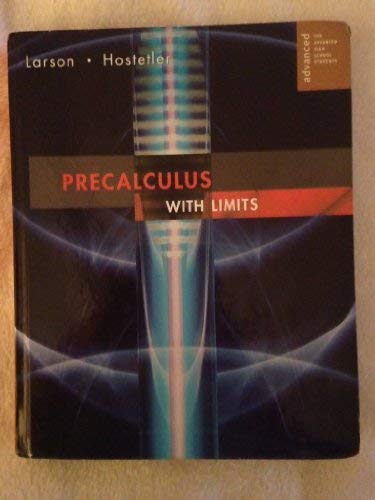 9780618660902: Precalculus With Limits. Advanced. For Advanced High School Students.