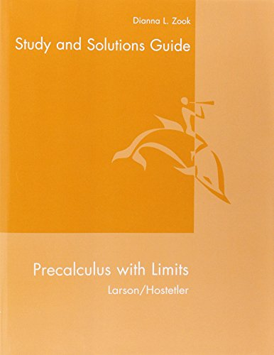9780618660926: Student Solutions Guide for Larson/Hostetler's Precalculus with Limits