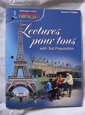 Discovering French Nouveau: Lectures pour tous Teacher's: MCDOUGAL LITTEL