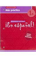 9780618661473: ¡En español!: Más práctica cuaderno (Workbook) with Lesson Review Bookmarks Level 1A (Spanish Edition)
