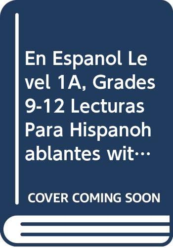 9780618661640: ¡En español!: Lecturas para hispanohablantes Student Edition with Audio CD Levels 1A/1B/1 (Spanish Edition)