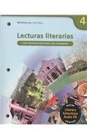 Lecturas Literarias: Con Preparacion Para Los Examenes: McDougal Littell
