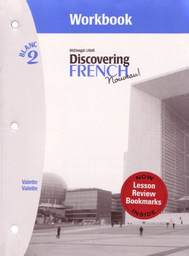 9780618661749: Discovering French, Nouveau!: Workbook with Lesson Review Bookmarks Level 2