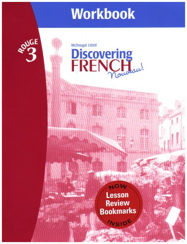 9780618661770: Discovering French, Nouveau!: Workbook with Lesson Review Bookmarks Level 3