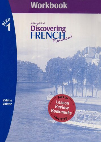 9780618661787: Workbook for Discovering French, Nouveau! Workbook (Level 1) with Lesson Review Bookmarks Bleu