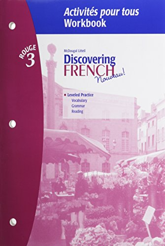 Discovering French Workbook: Rouge 3, Vocabulary And Grammar Lesson Review Bookmarks