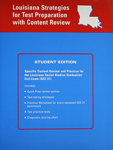 9780618664429: McDougal Littell General Social Studies Louisiana: Strategies for Test Preparation with Content Review (Student) High School LA