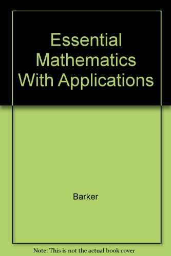 9780618664733: Essential Mathematics With Applications