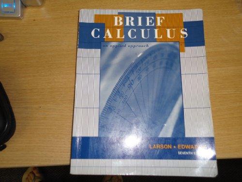 9780618664870: Brief Calculus an Applied Approach