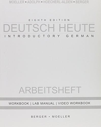 Deutsch Heute Workbook + Answer Key 8th Ed (German Edition) (0618666885) by Moeller, Jack
